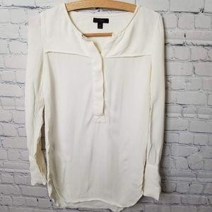 J crew long sleeve chiffon blouse